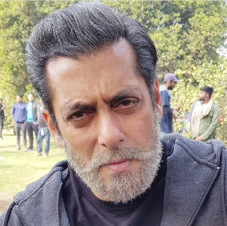 Salman Khan's BTS photo from Bharat sporting his grey look is UNMISSABLE; View Photo
