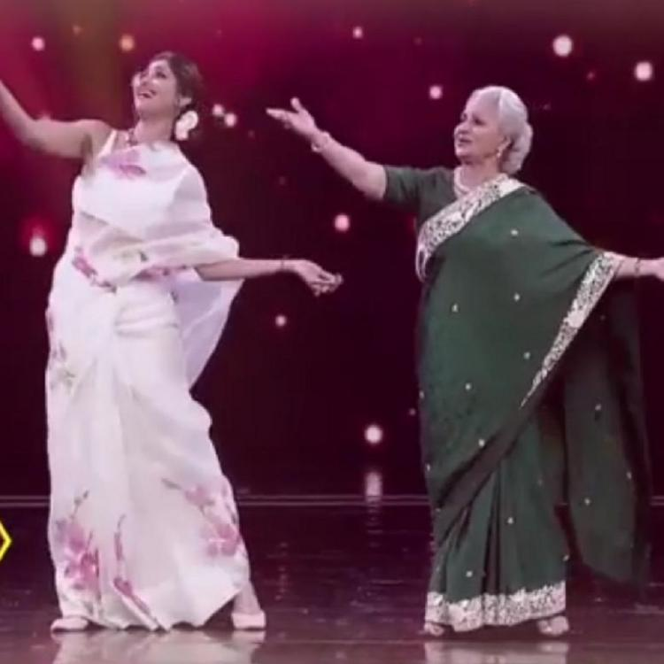 Shilpa Shetty Kundra shakes a leg with ageless beauty Waheeda Rehman on the stage of Super Dancer; WATCH