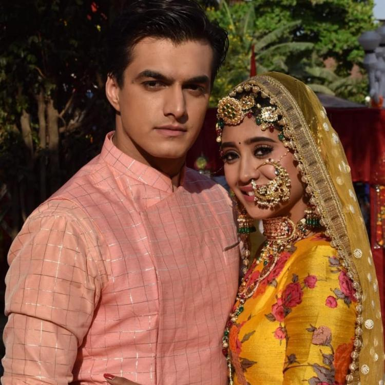 Yeh Rishta Kya Kehlata Hai: Shivangi and Mohsin look adorable as they shoot for a festive episode; See pics