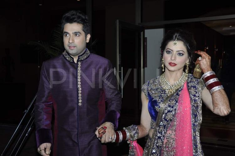 Aamna Sharif And Amit Kapoor At Their Wedding Reception
