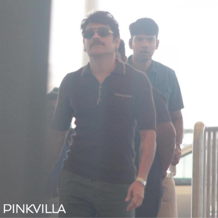 PHOTOS: Akkineni Nagarjuna keeps it casual as he gets spotted at Hyderabad airport