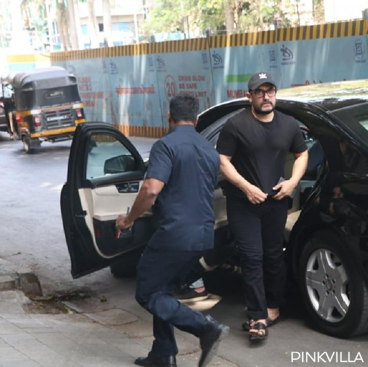 PHOTOS: Aamir Khan opts for all black while Saif Ali Khan keeps it rough and casual in white