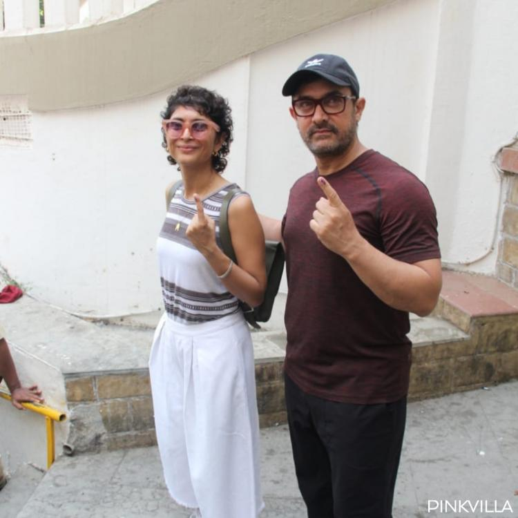 Lok Sabha Elections 2019: Aamir Khan and wife Kiran Rao pose for the paps after casting their vote; See Photos