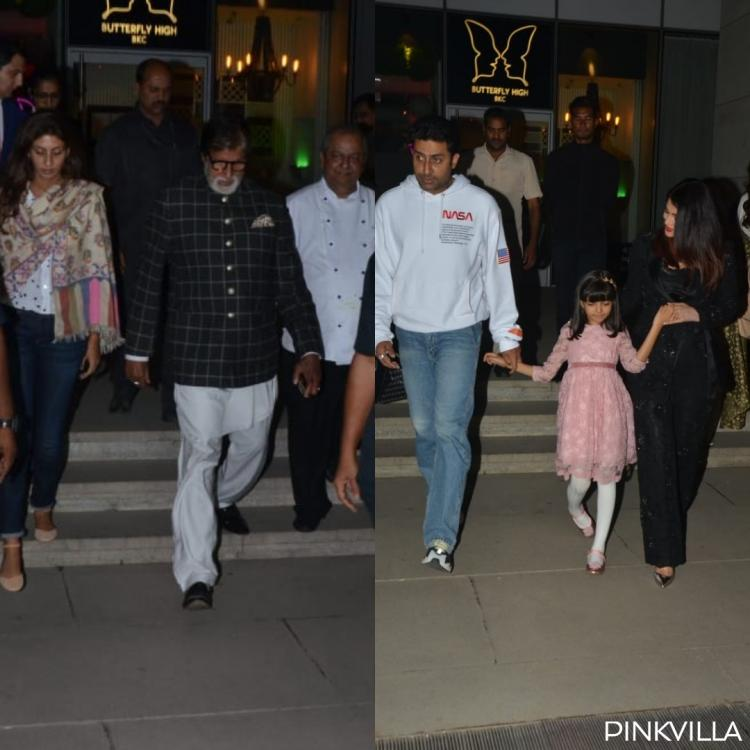 Photos: Abhishek Bachchan enjoys birthday dinner with Amitabh Bachchan, Aishwarya Rai, Aaradhya and others