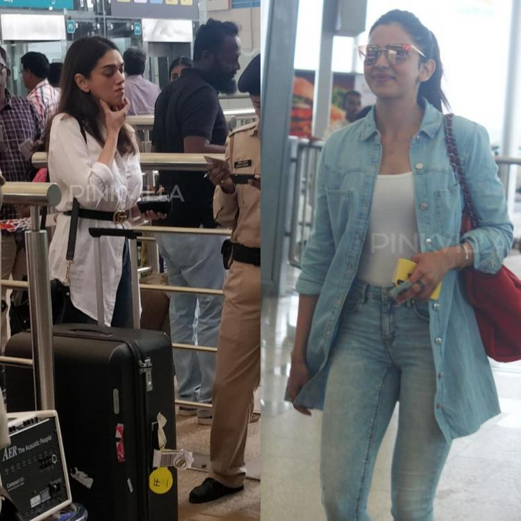 PHOTOS: Aditi Rao Hydari spotted as she stops by for security check; Rakul Preet rocks her casual airport look