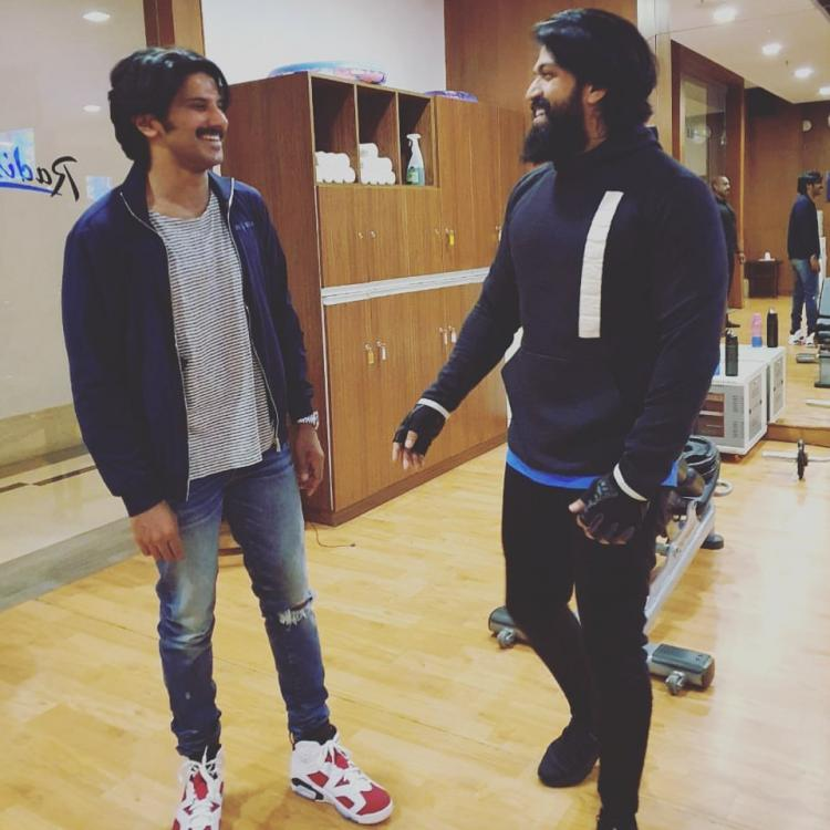 After Dulquer Salmaan, KGF star Yash shares candid moment with him; Promises to treat with a native cuisine