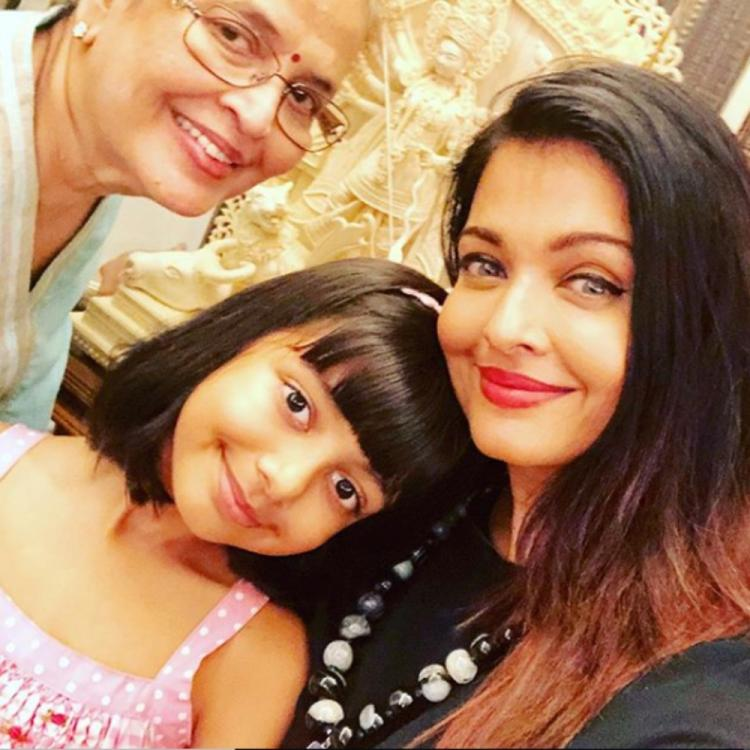 Mother's Day: Aishwarya Rai Bachchan shares an adorable pic with mother Vrinda Rai and daughter Aaradhya