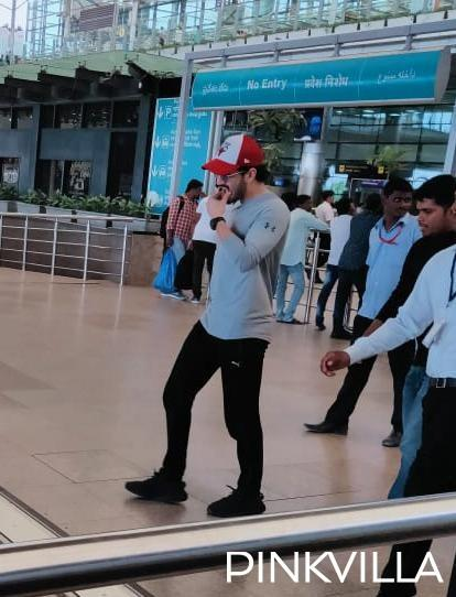 PHOTOS: Akhil Akkineni keeps it casual as he gets clicked at the Hyderabad airport