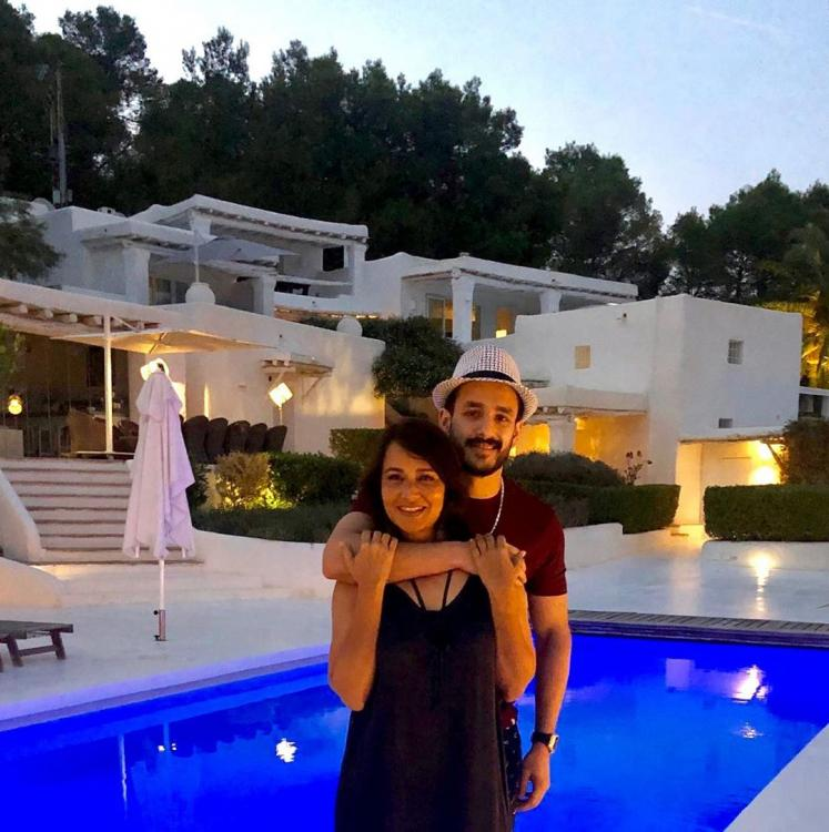 Akhil Akkineni wishes his mom Amala on her birthday; Says 'Your love makes me the luckiest son in the world'