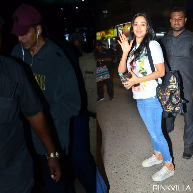 Laxmmi Bomb actors Akshay Kumar and Kiara Advani spotted in the city post completion of shooting; See Pics