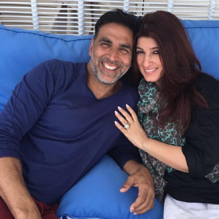 Akshay Kumar and Twinkle Khanna engage in a cute banter after his fiery stunt for 'The End'