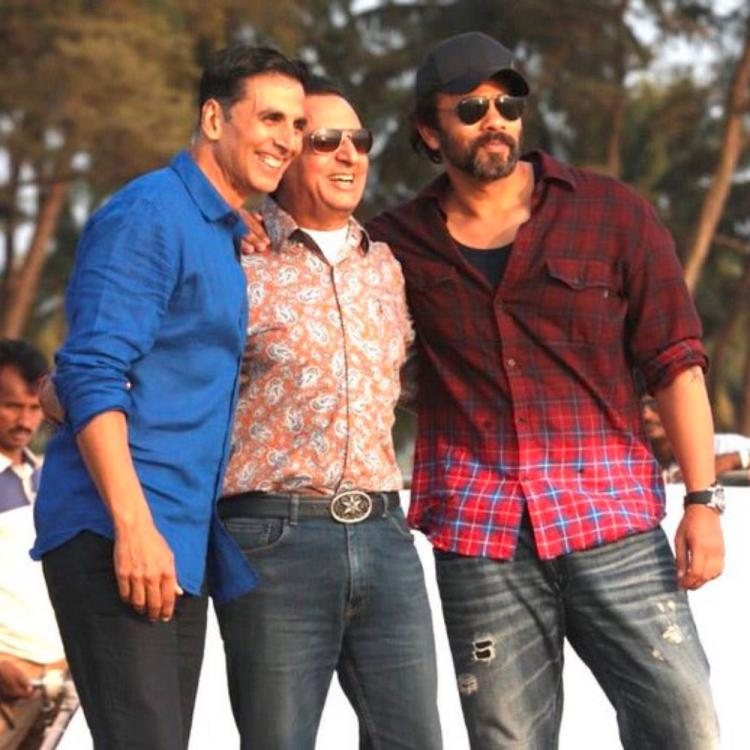 Akshay Kumar, Rohit Shetty & Gulshan Grover pose in BTS pic from Sooryavanshi but we are missing Katrina Kaif
