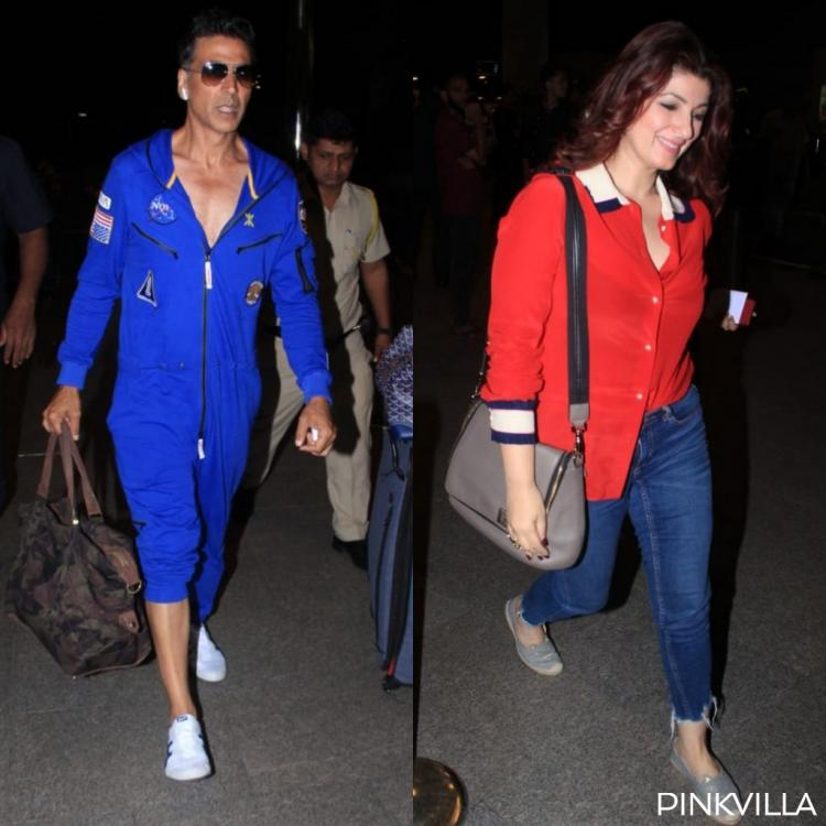PHOTOS: Akshay Kumar & Twinkle Khanna make for a happy couple as they jet off for anniversary celebrations