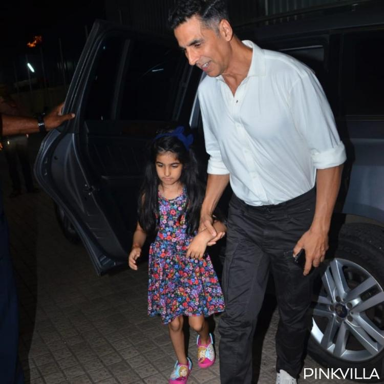 PHOTOS: Akshay Kumar enjoys a movie outing with daughter Nitara and we are all hearts for them