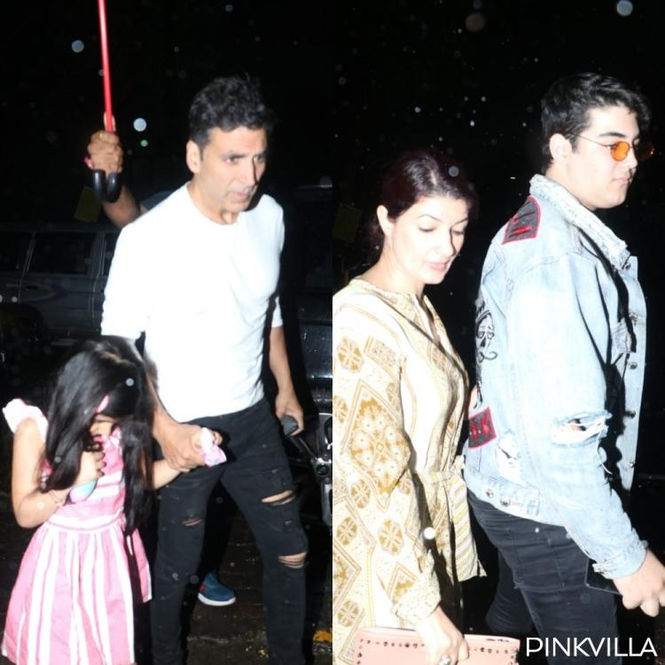 Akshay Kumar dines out with with wife Twinkle Khanna & kids; View PICS