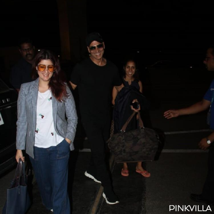 PHOTOS: Akshay Kumar & Twinkle Khanna cannot stop smiling as they were spotted hanging around in the city