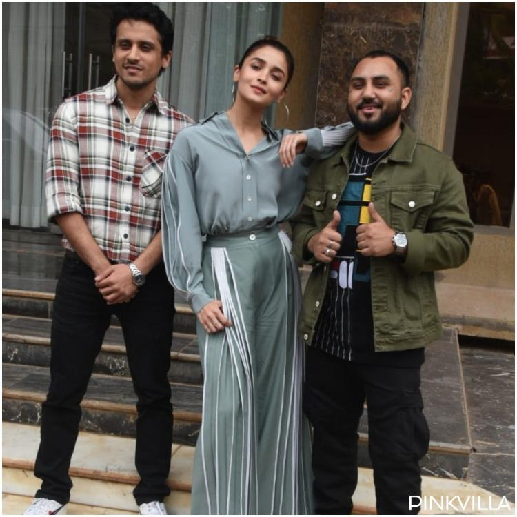 PHOTOS: Alia Bhatt dons a chic look in a monotone outfit for Prada song promotion with The Doorbeen