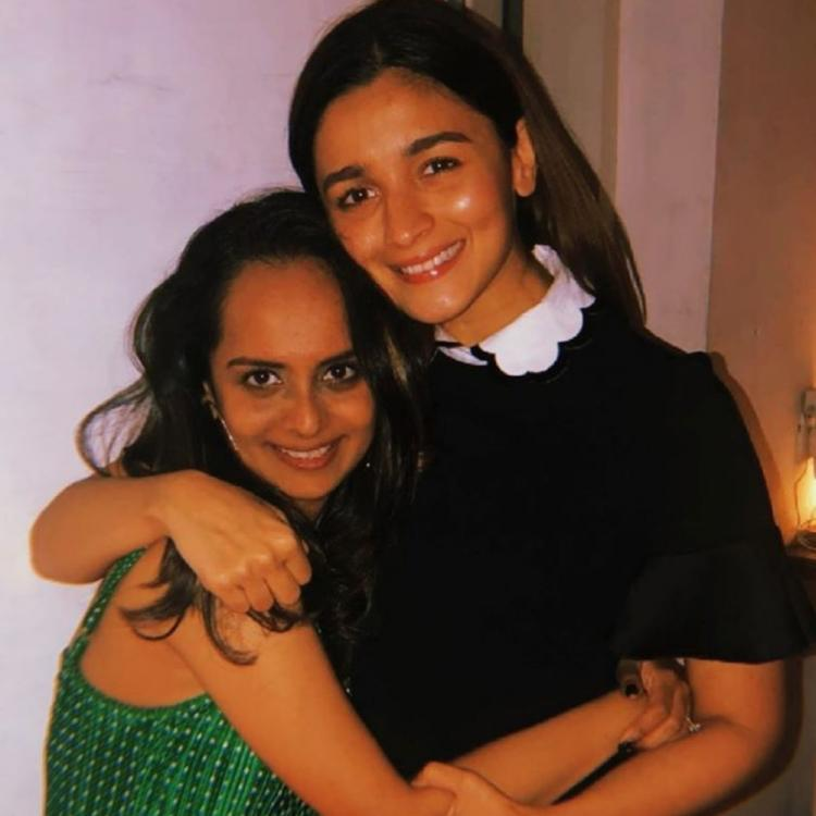 Alia Bhatt paints a pretty picture in a little black dress as she parties with her team; See Pics