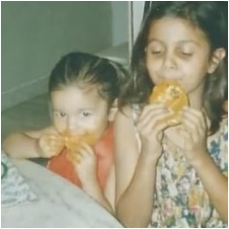 Alia Bhatt adorably devouring mangoes with sister Shaheen in a childhood pic is the cutest thing on internet