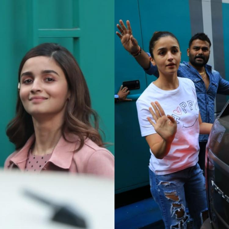 PHOTOS: Alia Bhatt goes from glam to cool as she sports two different attires at a shoot location