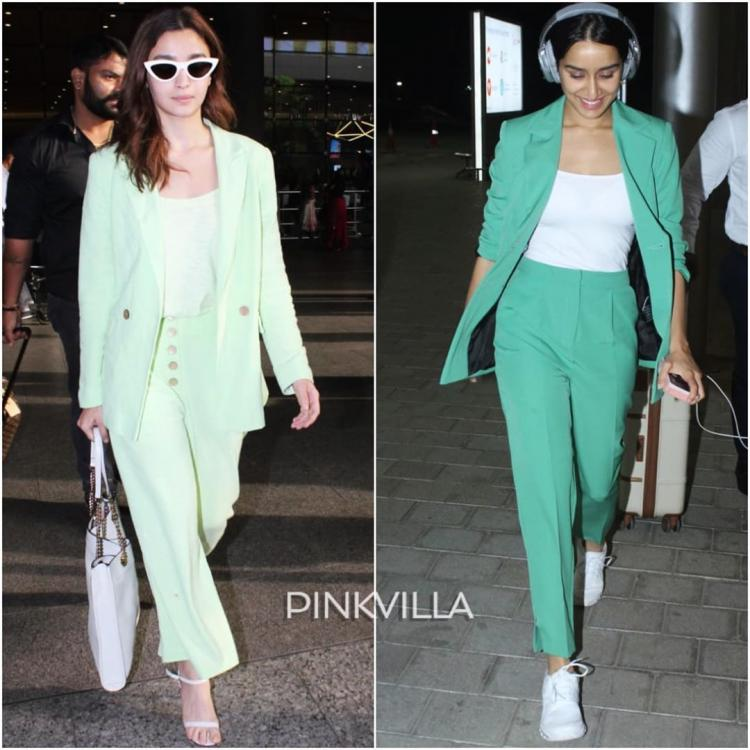 Fashion Faceoff: Both Alia Bhatt and Shraddha Kapoor opt for green pantsuits; Who wore it better?