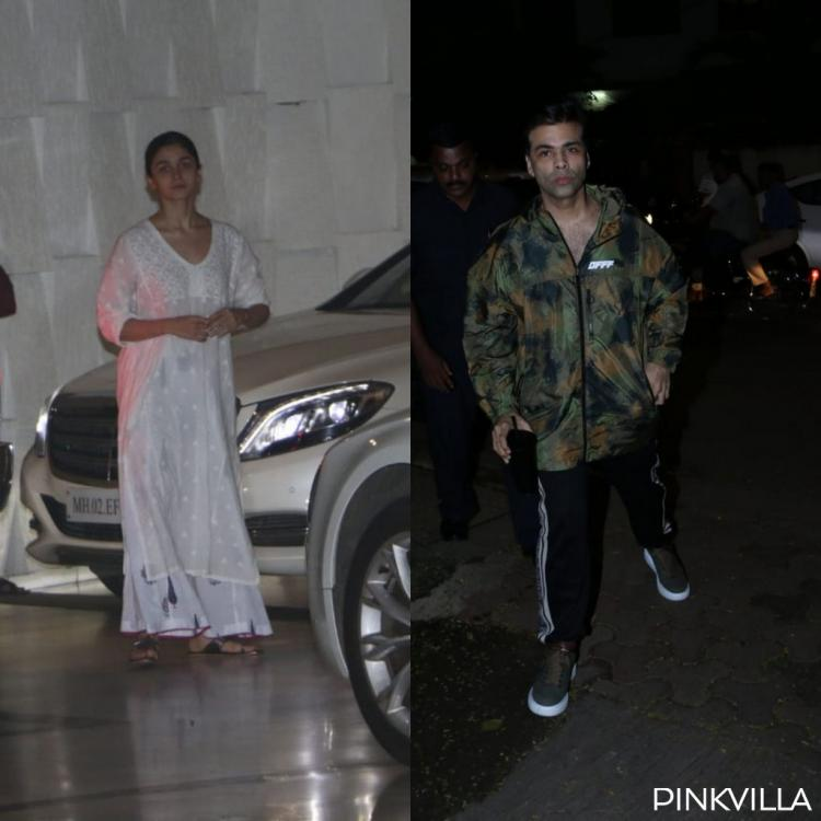 PHOTOS: Alia Bhatt stuns in white as she goes out and about with Karan Johar and Ayan Mukerji