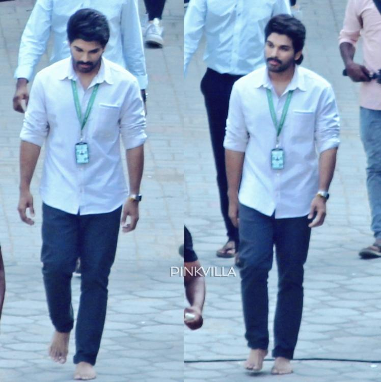 #AA19 Photos: Allu Arjun spotted in a simple look throwing no starry tantrums on sets & will win your hearts