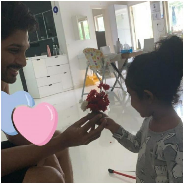 Allu Arjun receives a special gift from his little princess Arha and it will leave your hearts fluttering