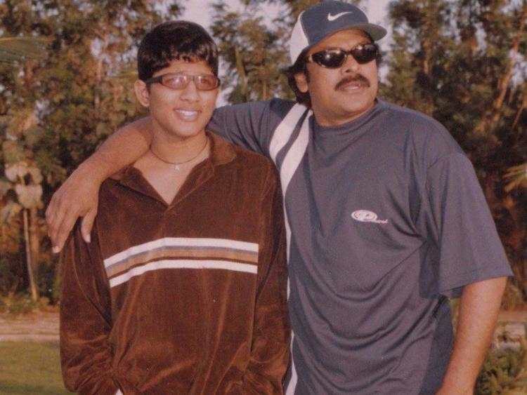 Throwback Thursday: Allu Arjun as a teenager looks unrecognizable as he poses with Chiranjeevi