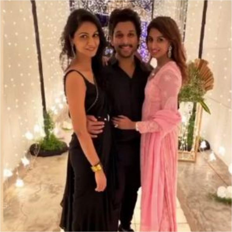 PHOTOS: Allu Arjun and wife Sneha look stunning together as they twin in black at a Diwali bash