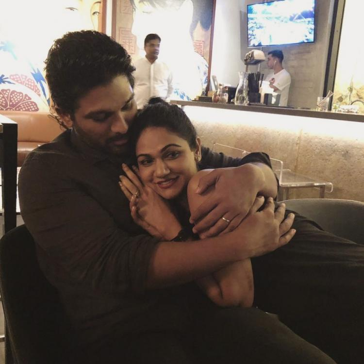 Allu Arjun wishes wife Sneha on her birthday with a romantic picture; Check it out