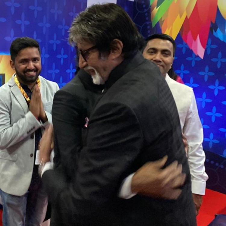 IFFI 2019 Opening Ceremony: Rajinikanth and Amitabh Bachchan share a light moment as they arrive