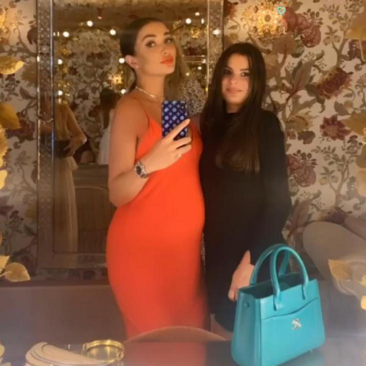 PHOTO: Pregnant Amy Jackson looks flawless in a stunning orange gown, flaunting her baby bump