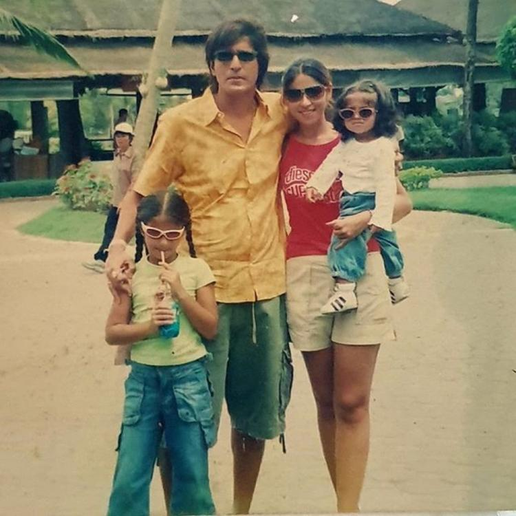 Flashback Friday: Ananya Panday's swag as a kid in funky sunnies is unmissable as she poses for a family photo