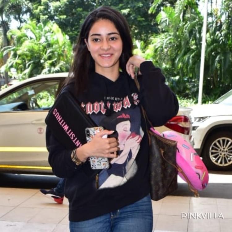 PHOTOS: Ananya Panday strikes a chord between cute and sassy as she waves goodbye at the airport