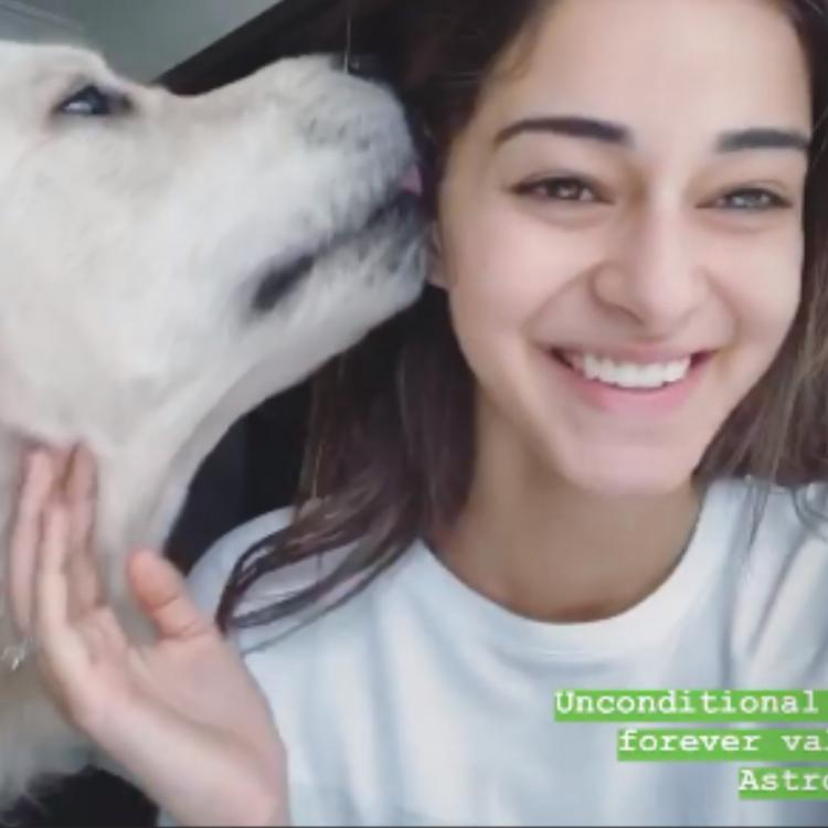Ananya Panday celebrates Valentine's Day with her pet dog Astro and a steamy cup of coffee; See pics