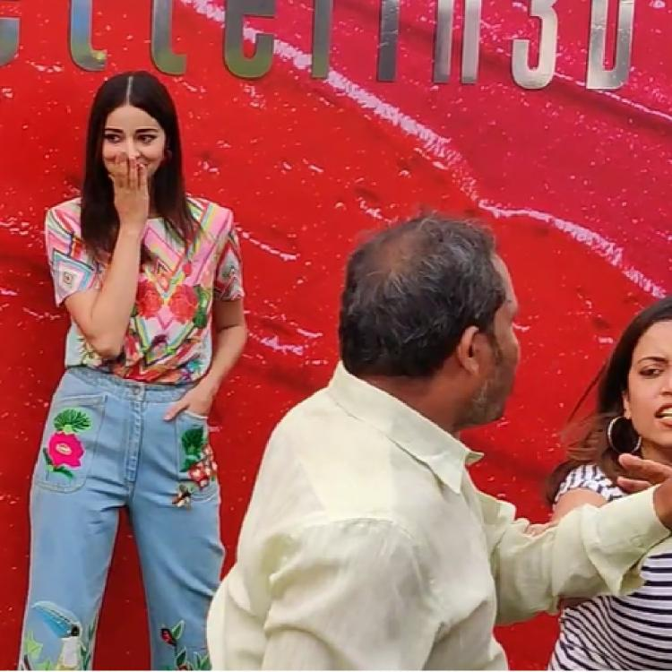 Ananya Panday is startled as an argument breaks out in front of her at LFW & it's relatable AF; WATCH