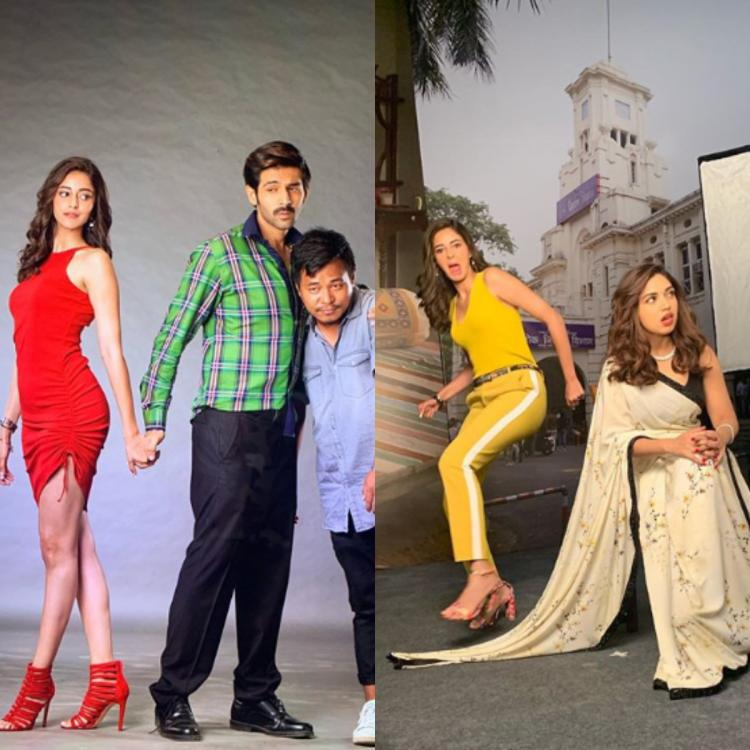 Ananya Panday shares some hilarious BTS pictures from Pati Patni Aur Woh; Janhvi Kapoor reacts
