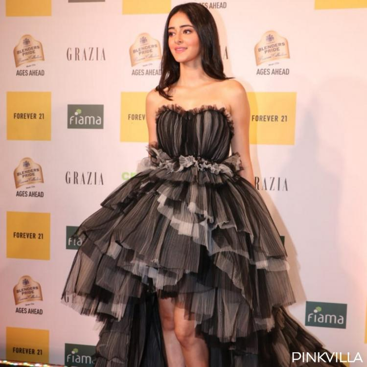 PHOTOS: Ananya Panday goes glam in a black and grey gown for the Grazia Millennial Awards 2019