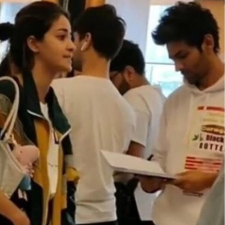 Ananya Panday's BTS pic with Pati, Patni Aur Woh co star Kartik Aaryan will remind you of their funny banter