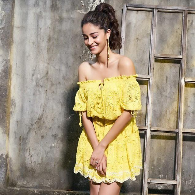 Ananya Panday is a ray of sunshine in a summer dress with a metallic twist; Perfect for a day date with bae