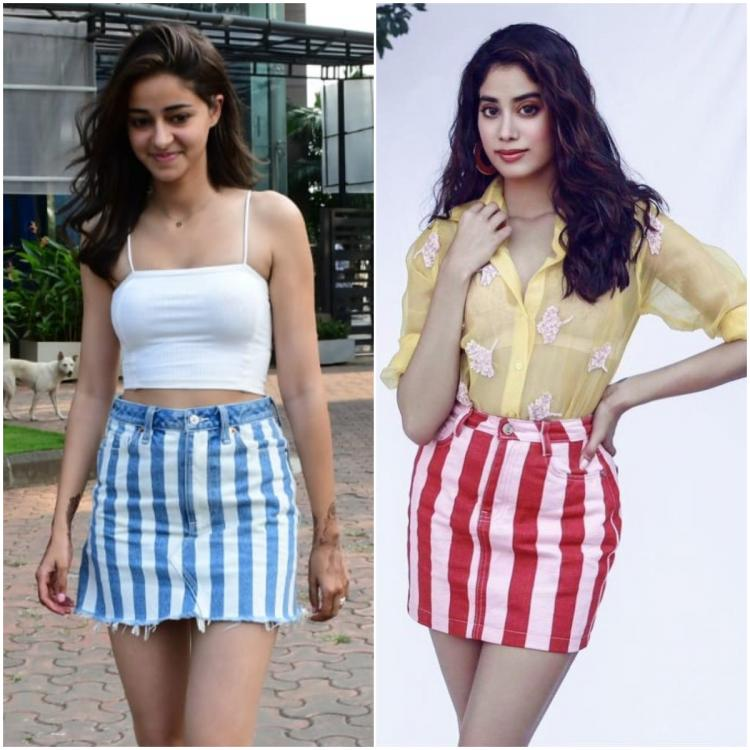 Ananya Panday and Janhvi Kapoor give the striped skirt a stamp of approval; Who wore it better?