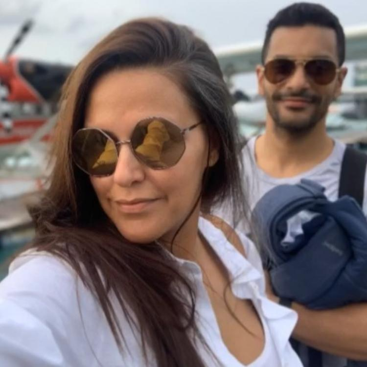 Angad Bedi steals away wife Neha Dhupia for her birthday getaway to the Maldives
