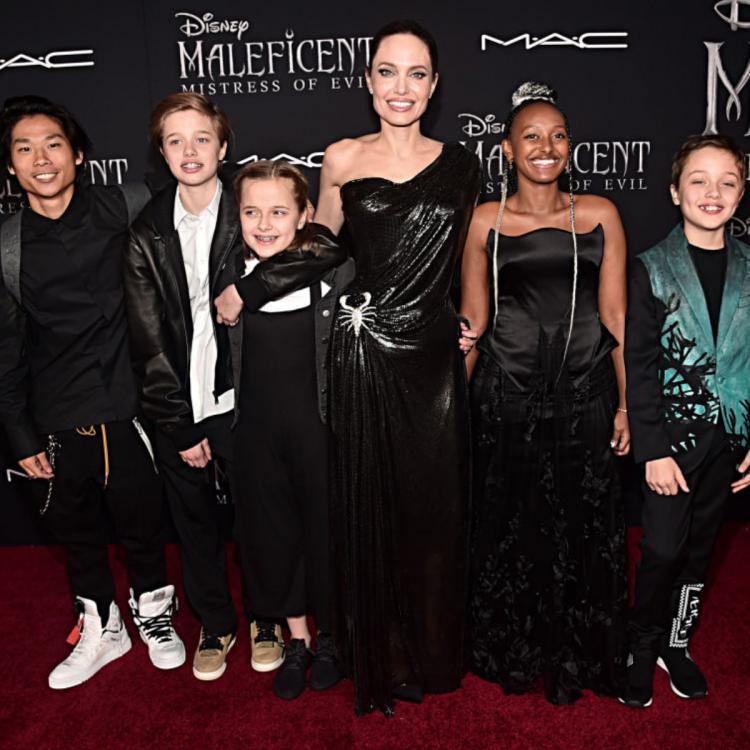 Angelina Jolie stuns in a black gown but her children steal the show at Maleficent: Mistress of Evil premiere