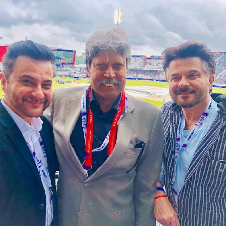 Anil Kapoor and Sanjay Kapoor have an epic fan moment with legendary cricketer Kapil Dev during Ind Vs NZ game