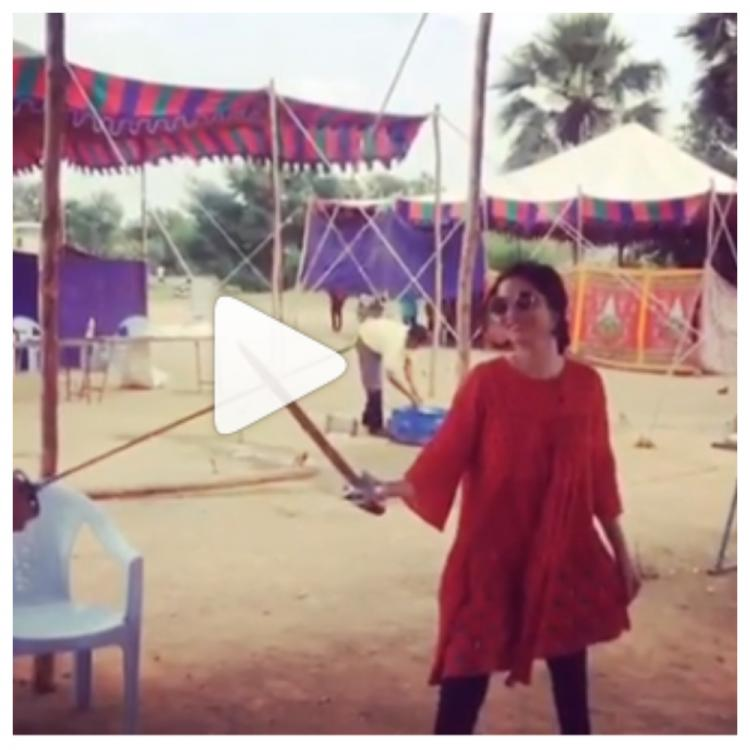 In this video, Manikarnika actress Ankita Lokhande is showing the art of sword fighting and we are super impressed