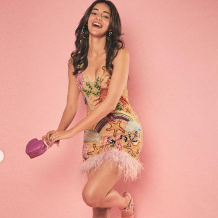 PHOTOS: Ananya Panday looks all things dreamy and chic as she flaunts a shiny body con outfit