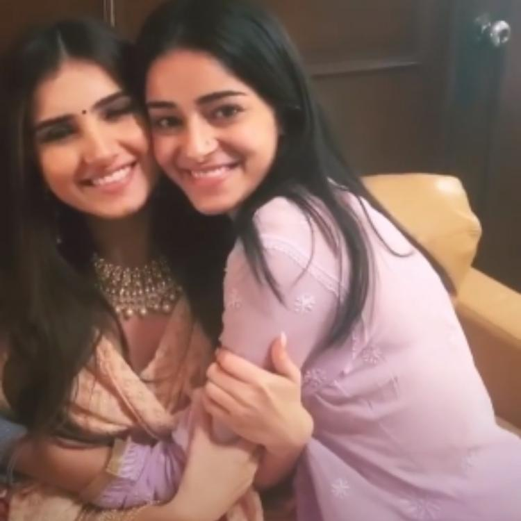 Ananya Panday & Tara Sutaria are elated as they reunite for Ganesh Chaturthi celebrations; View PICS