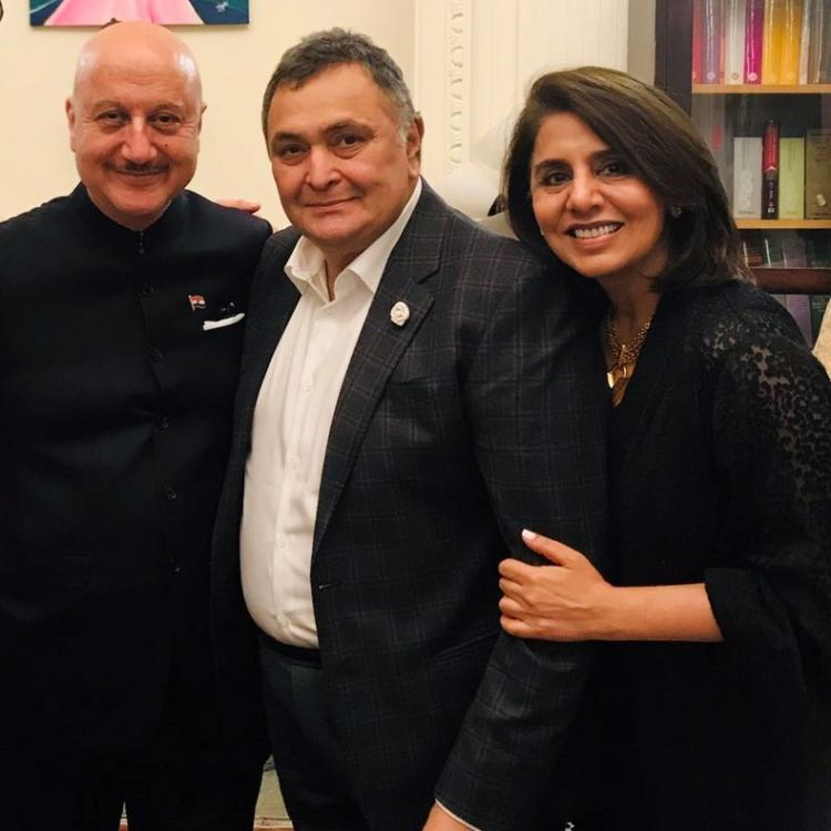 Anupam Kher wishes Rishi Kapoor and Neetu Kapoor a safe trip as they return back to India
