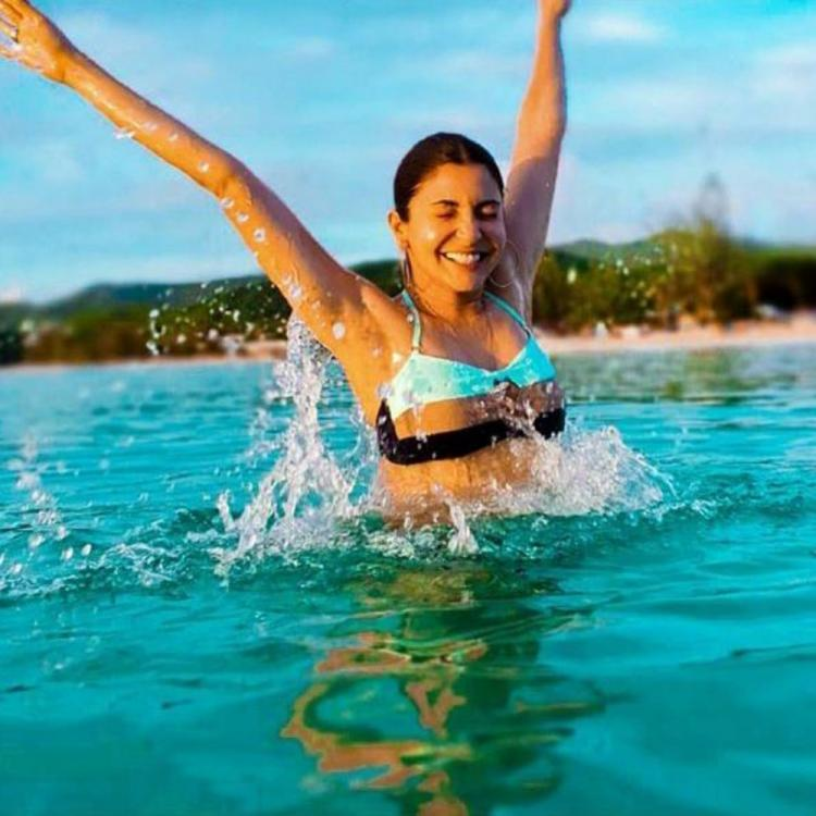 Anushka Sharma's latest bikini pictures prove she is one happy water baby; Check it out